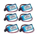 ele ELEOPTION 6 Packs Replacement Battery PLC for Allen Bradley 1756-BA2 BR2/3A-AB 3.0V 12...