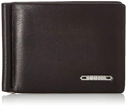 Guess Men's Tyler Money Clip Wallet Travel Accessory-Billfold, Black, One...