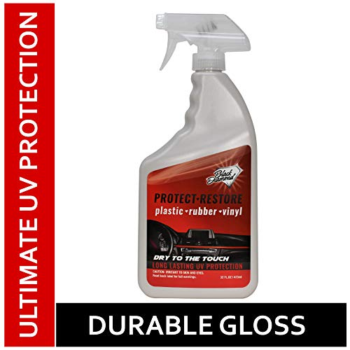 Black Diamond Stoneworks Restore-Protect Plastic, Rubber, Vinyl, Leather + Ultimate UV Protectant to Prevent Fading on Cars, Tires, Trim, Bumpers, Dashboards, and Seats
