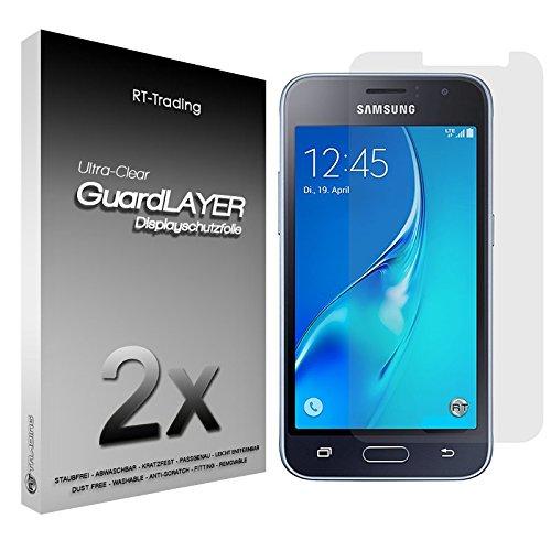2x Samsung Galaxy J1 (2016) - Bildschirm Schutzfolie Klar Folie Schutz Bildschirm Screen Protector Bildschirmfolie - RT-Trading