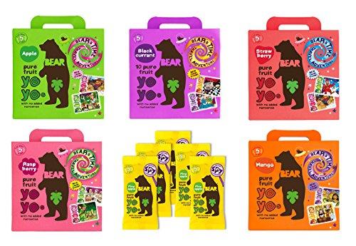 Bear Yoyo 100 Prozent Fruchtrollen Auswahl (30 x 20g Packung)