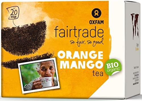 FAIR TRADE ORGANIC BIO Tee in Säcken 2x20 Stück 2er Pack (2x 36g) Teebeutel OXFAM (orange mango)