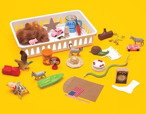 Primary Concepts 3-D Rhyme Basket Rhyming Objects