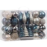 Sea Team 65 Stück von gemischten Kombination bruchsicher und stoßfester Geschenk-Verpackungskasten für Weihnachtskugeln. Das ist für Festsdekoration, wiederverwendbar, tragbar, Weihnachtsbaumschmuck