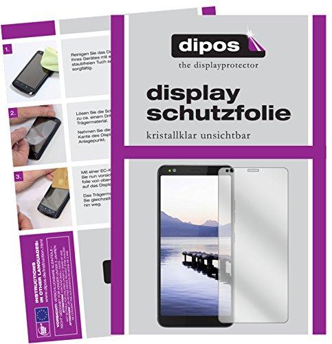 dipos I 2X Schutzfolie klar kompatibel mit Gigaset GS370 Folie Bildschirmschutzfolie