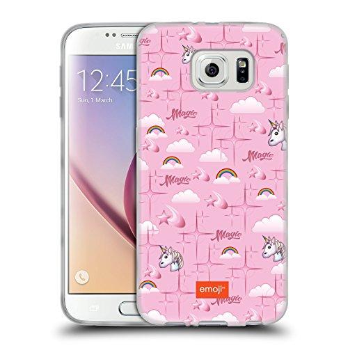 Head Case Designs Oficial Emoji Unicornio Patrones 3 Carcasa de Gel de Silicona Compatible con Samsung Galaxy S6