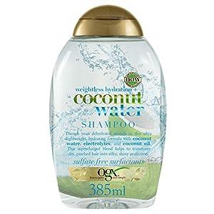 OGX Champú Hidratante sin Sulfatos ni Parabenos, Tratamiento Hidratante para el Pelo, Agua de Coco, 385 ml