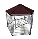 Neocraft My Pet Companion Outdoor Dog Kennel with Included Roof Weather Resistant Cover (4'), Waterproof Winter Welded Wire Pet House Shelter – Ideal for Medium Sized Dog Breed, Easy Assembly