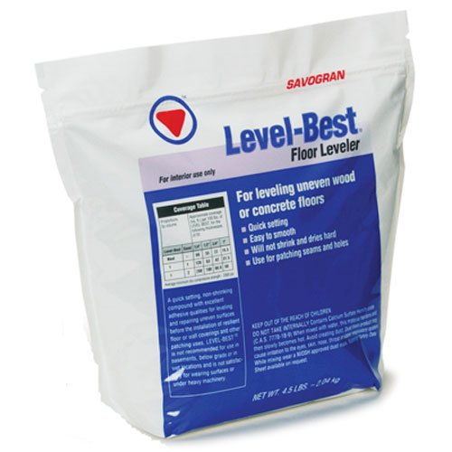 SAVOGRAN 12832 4-1/2LB FLR Leveler, 4-1/2 lb, White to Off-White