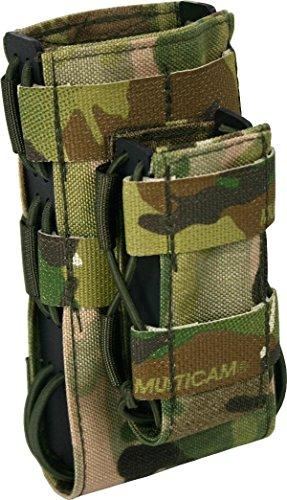 Zentauron Molle Magazin Schnellziehtasche G36 Duo 8,5 x 15 x 3,5 I Schnellziehtasche für Magazin aus hochwertigem Cordura® & Kydex® I Strapazierfähige Militär-Tasche I Tasche in Multicam