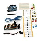 Componentes Meter Kit de resistencia de puente LED for Arduino Basic Starter UNO R3 con mini placa de pruebas