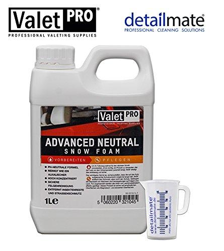 detailmate Auto Pflege Set aus ValetPRO Advanced Neutral Snow Foam 1 Liter Messbecher 50 ml