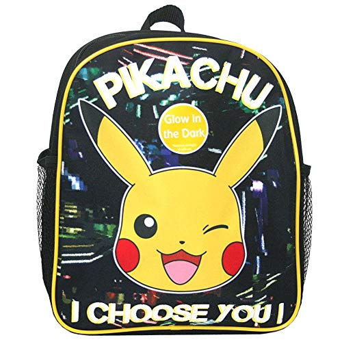 Kinder Rucksack | 31 x 25 x 9 cm | Pokemon | Pikachu | Glow in The Dark
