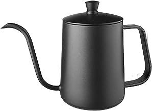Theepot, 304 roestvrijstalen druppelkoffiepot, lange-mond pot, hangende oorpot, koffiezetapparaat, voor keuken, hotel, res...