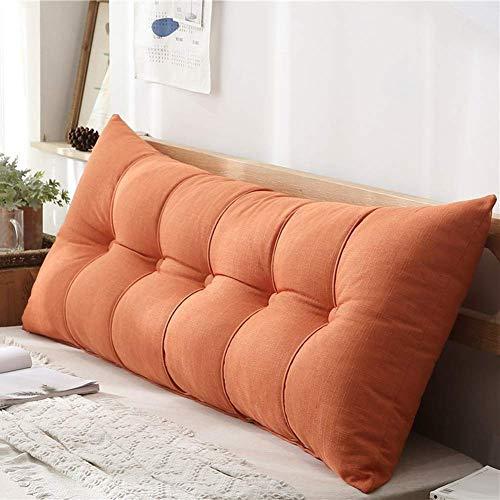 DX Grote bed kussen tafel Rugleuning kussen Dubbele kussen Nek kussen Sofa bed Stapelbed Hoofdbord Gecapitonneerd in tatami (kleur: bruin, afmeting: 100x20x60cm)