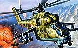 Cjktgt 5d Diamond Painting Kit Bricolaje Arte,Helicóptero Bricolaje Completo Taladro Arte,Diamantes Imitación Bordado Pegatinas de Pared Decoración de La Sala (30x40cm)