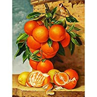 フルドリルダイヤモンド刺繡フルーツ5DDIYモザイクダイヤモンド絵画クロスステッチオレンジラインストーン家の装飾ラブギフト