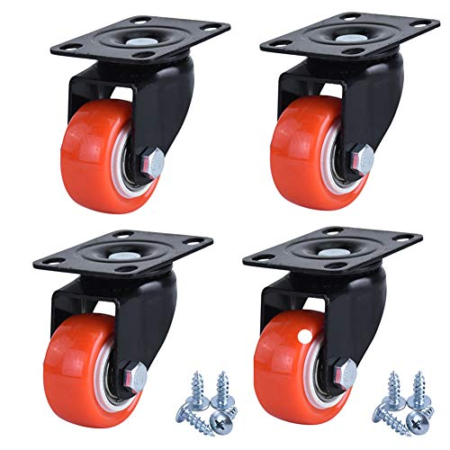 1,5 Zoll Universal-MöBelrad, Lagerrad Gummi Schwerlastrad/Industriedruckrad/SchalldäMpfer VerschleißFester Boden, 4 StüCk, Mit Schrauben