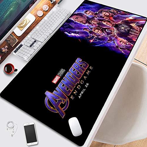 CSQHCZS-SBD Geavanceerd spel Anime Muispad, Avengers Spider-Man, Hulk, Marvel, Iron Man muismat, oversized anti-slip rubberen basis, genaaid tafelblad, toetsenbord pad ++++ +