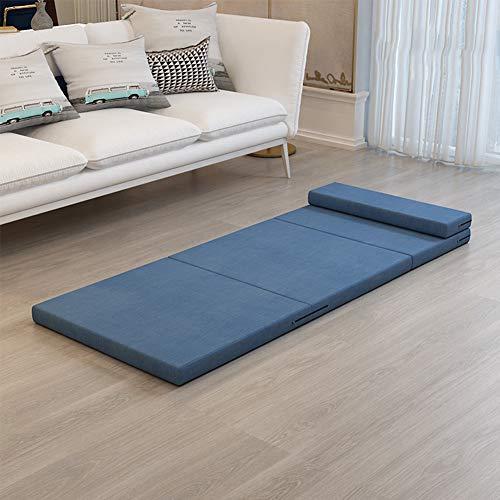 HXSKI Plegable Colchón,para Soltero Oficina Día Colchón Futon,Tatami Esponja Doble Futón-Azul. 70x200x5.5cm(28x79x2inch)