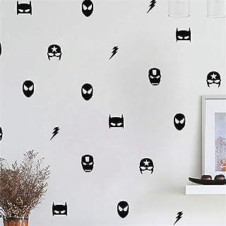Wandsticker Disney, Schwarz und Weiß, für Toilette, Silhouetten, für Damen und Herren, für WC, Super-héros mixte