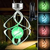 Hanging Solar Lights Outdoor Wind Chimes Lights LED Colour Changing Light for Design Decoration for Garden,Yard. Patio, Balcony Outdoor & Indoor (Rotating Motor )