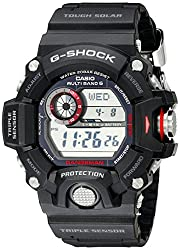Casio Tough Solar watches are battery powered. The battery is recharged by a solar panel built into the face of the watch. Depending on the model, a Casio Tough Solar watch can stay fully functional anywhere from 5-23 months without exposure to any light. Casio Tough Solar watches can be recharged with any type of light, but recharging times will vary according to the light-source