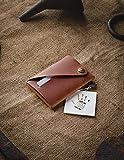 Minimalistischer Brieftasche/Kartenhalter aus Leder Classic Brown, Crazy Horse Leder...