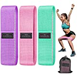 SHSTFD Resistance Bands, Booty Bands for Legs and Butt, Non Slip Elastic Exercise Bands, 3 Levels Workout Bands Women Sports Fitness Band for Squat Glute Hip Training Home Gym