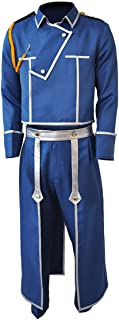 Mens Fullmetal Alchemist Roy Mustang Cosplay Costume Outfit