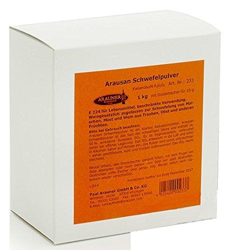 Schwefelpulver (Kaliumdisulfit) Arauner zur Gesunderhaltung des Weines, 1 kg