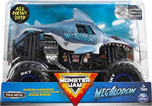Monster Jam, Official Megalodon Monster Truck, Die-Cast Vehicle, 1:24 Scale