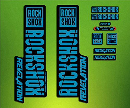 ELX Stickers ELX63 Autocollants de fourche Rock Shox Revelation ELX63 2018, bleu