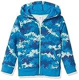 Amazon Essentials Boys' Fleece Zip-Up Hoodie Sweatshirts, Digital Camo, X-Small