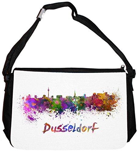 Merchandise for Fans schoudertas - 38x28x8cm, 8,5 liter, zwart motief: Silhouette Düsseldorf - 12