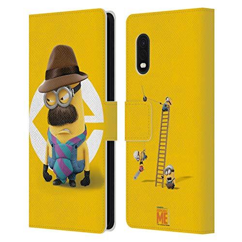 Head Case Designs Oficial Despicable Me Disfraz de Kevin Dad Esbirros Carcasa de Cuero Tipo Libro Compatible con Samsung Galaxy Xcover Pro