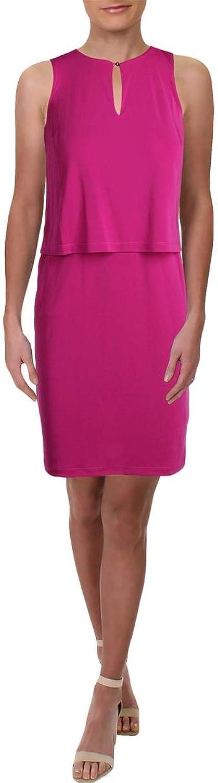 Lauren Ralph Lauren Womens Petites Sleeveless Special Occasion Cocktail Dress