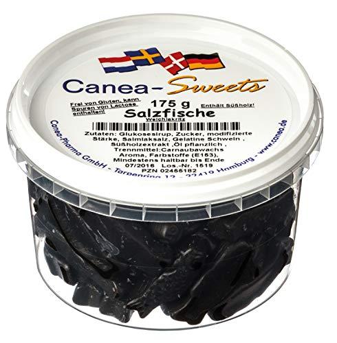 Canea-Sweets Extra salziges Starklakritz, SALZFISCHE Lakritz Dose, 1er Pack (1 x 175 g)