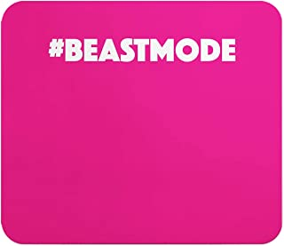 Loud Universe Beast Mode Gym Girl Rectangular Mouse Pad, Pink - 9.25 x 7.6 inch