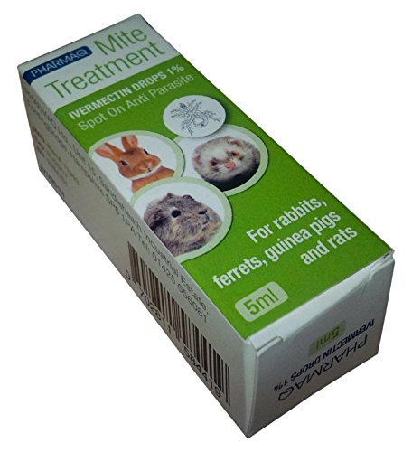PHARMAQ – Gotas Ivermectina 1% 5ml–Tratamiento de los ácaros para Mascotas peludas pequeñas