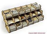 docsmagic.de Card Holder - 18-Compartment 1500+ Mini Cards- Titular de la Tarjeta