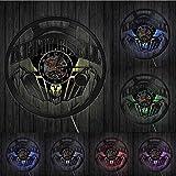 hxjie Culturismo Kettlebell Gimnasio Logo Reloj de Pared Ejercicio de Levantamiento de Pesas Disco de Vinilo Reloj de Pared Ejercicio Reloj de Pared Inspirador Regalo