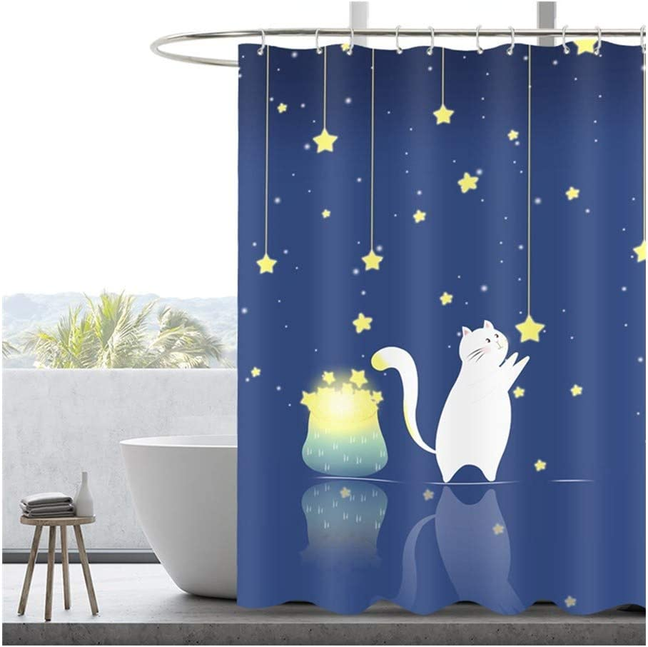 Pot All items in the store Creative Shower Curtain Cute Rapid rise Cat with Ban Decoration
