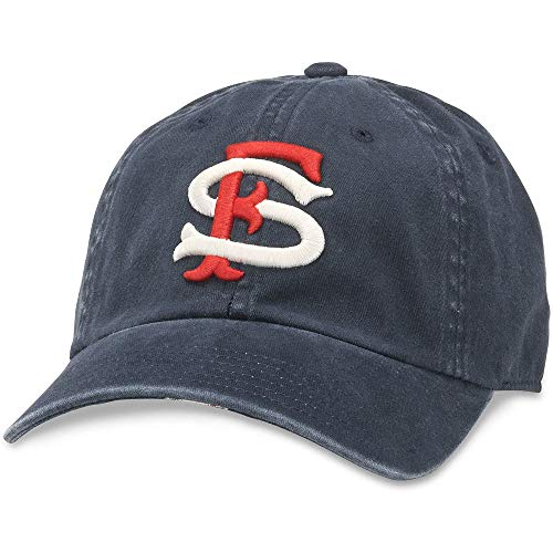 American Needle Minor League Baseball New Raglin Washed Slouch Adjustable Hat, Herren, navy, Einheitsgröße