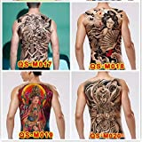 4 Piezas Nuevo Caliente 48 * 34 Cm Espalda Completa Tatuaje Grande Pegatina Color Carpa Flor De Loto Tatuajes Temporales Tatuajes Hombres Geniales