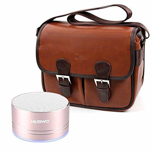 DURAGADGET Bolsa Profesional marrón con Compartimentos para Altavoz Portátil Nubwo A2