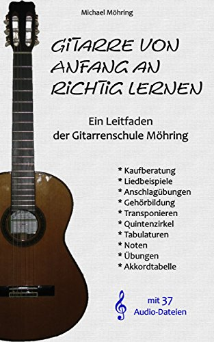 Gitarre von Anfang an richtig lernen: Ein Leitfaden der Gitarrenschule Möhring