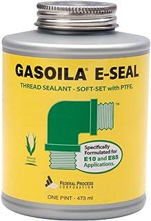 Gasoila E-Seal Pipe Thread Sealant with PTFE Paste, Non Toxic, -100 to 600 Degree F, 1 Pint Brush