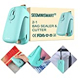 SEGMINISMART Mini Bag Sealer, Máquina de Sellado en Caliente portátil, Heat Sealer Machine, 2 in 1 Small Mini Portable Heat Sealer (Batería no incluida)