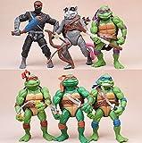 6 Unids / Set Figuras De Teenage Mutant Ninja Turtles De 12 Cm, Leo Raph Mikey Don, Todas Las Articulaciones Son Móviles con La Base Edición De Coleccionista